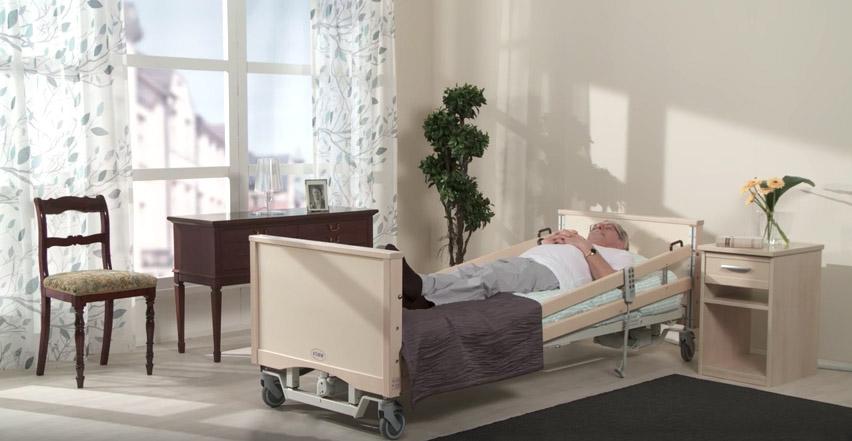 Modux-sänky: laidat puoliksi ylhäällä